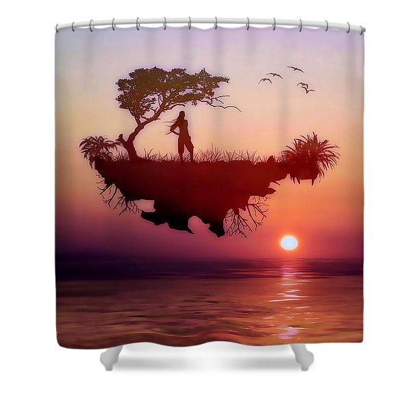 Solitary Sister Shower Curtain