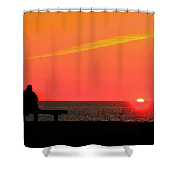 Solitude At Sunrise Shower Curtain