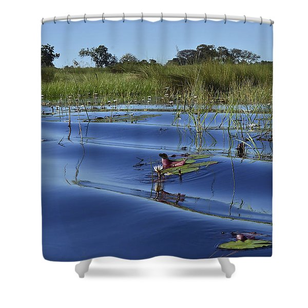 Solitude In The Okavango Shower Curtain