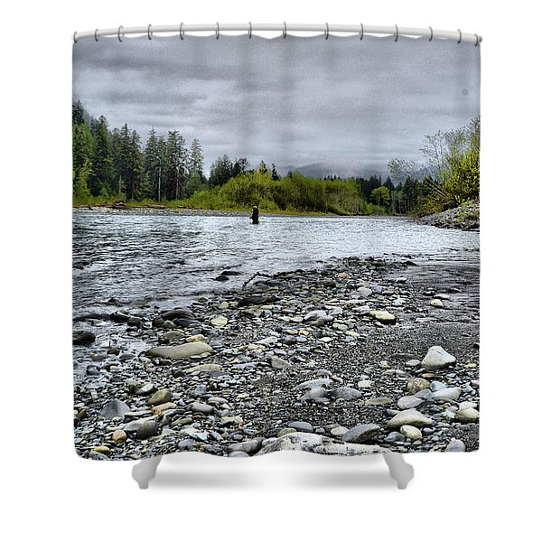 Solitude On The River Shower Curtain