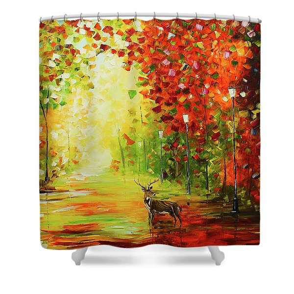 Solo Deer Shower Curtain