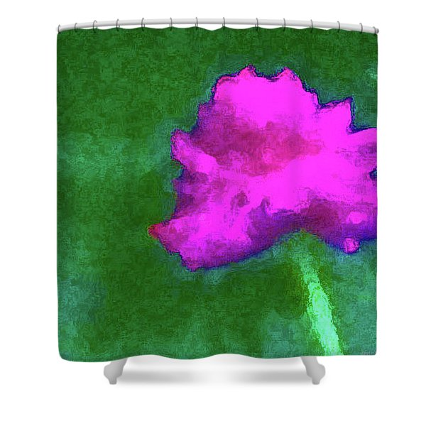 Solo Flower Shower Curtain