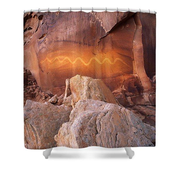 Solstice Snake Shower Curtain
