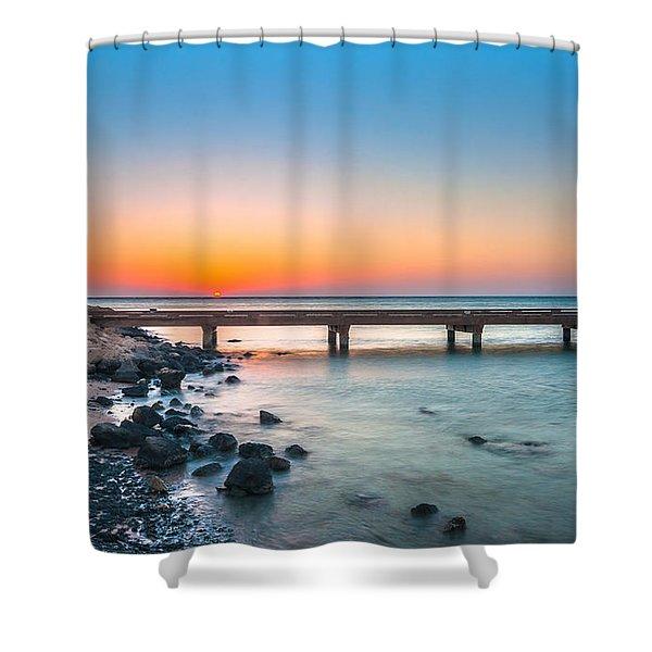 Soma Bay Sunrise Shower Curtain