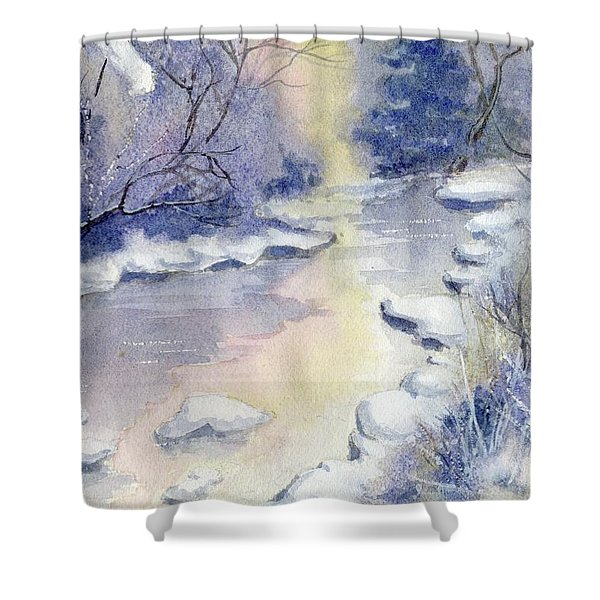 Some Frosty Morning Shower Curtain