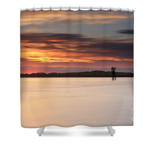 Some Glow At Sunset Shower Curtain