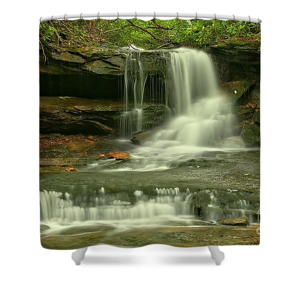 Somerset County Cave Falls Shower Curtain