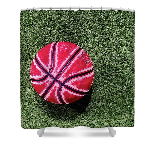 Something About This Bball Catches My Shower Curtain