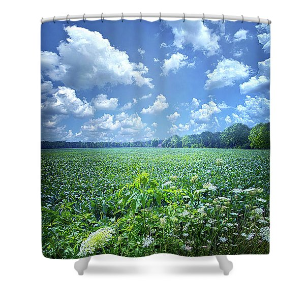 Something Good In This World Shower Curtain