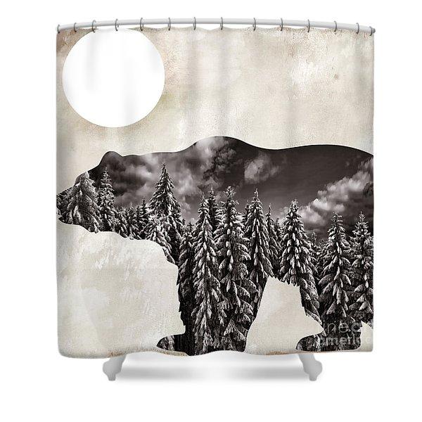 Something Wild Bear Shower Curtain