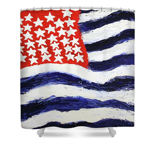 Something's Wrong With America Shower Curtain