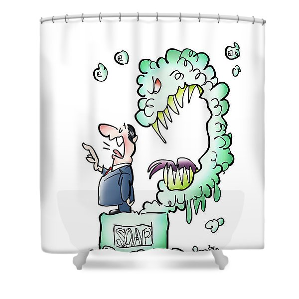 Sometimes Words Eat Us Shower Curtain