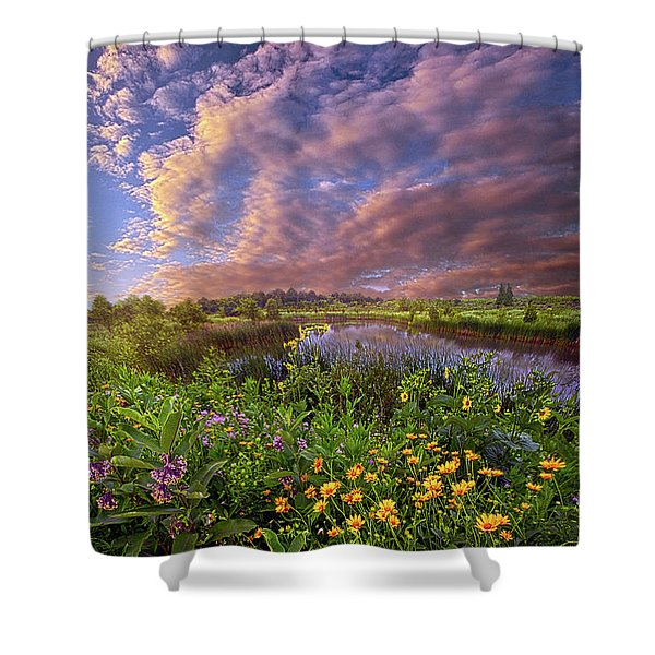 Sometimes We Are In Doubt But Never In Despair Shower Curtain