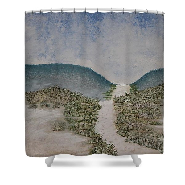 Shower Curtain featuring the painting Somewhere In Florida by Antonio Romero