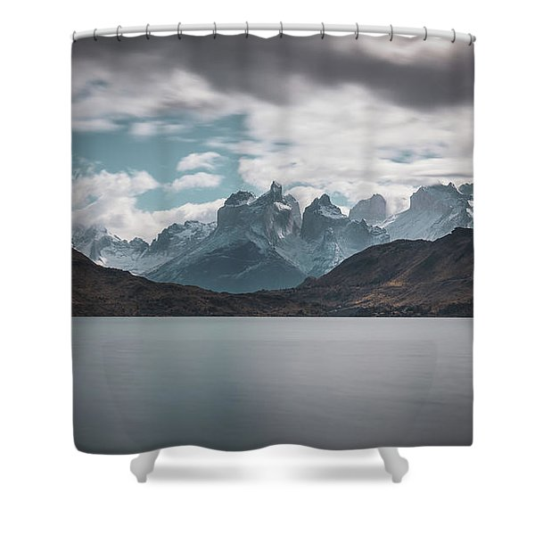 Somewhere Over The Mountain Range Shower Curtain