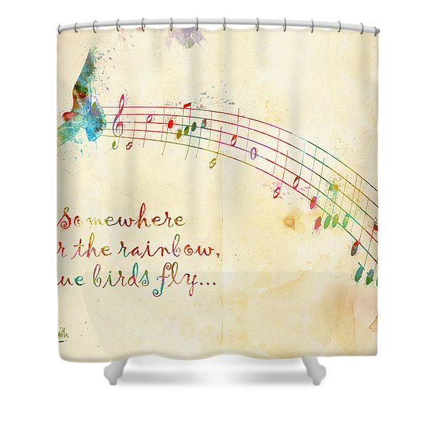 Somewhere Over The Rainbow Shower Curtain