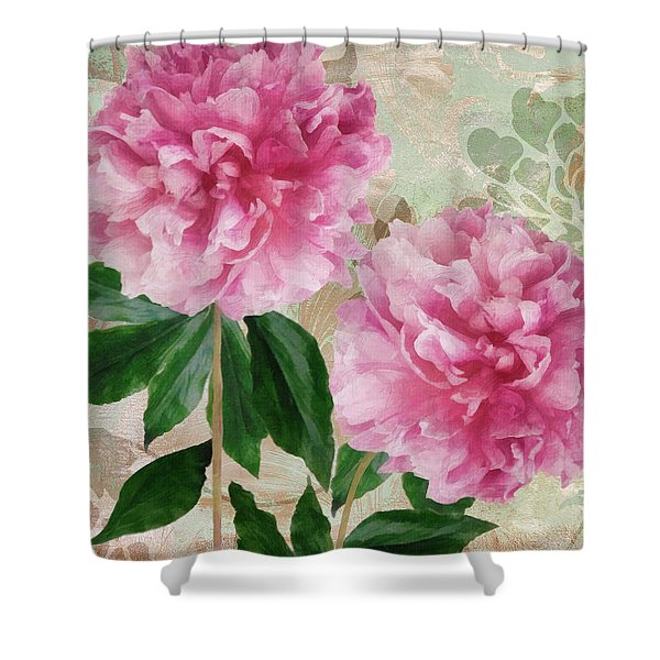 Sonata Pink Peony I Shower Curtain