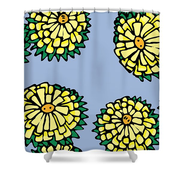 Sonchus In Color Shower Curtain