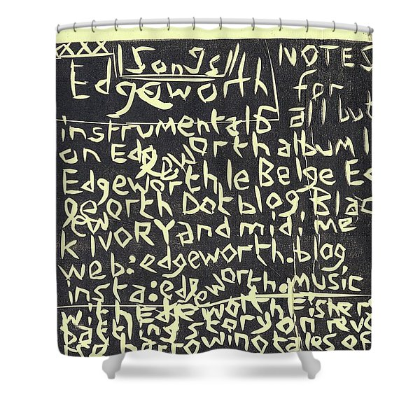 Song Notes Title Page A-l Shower Curtain