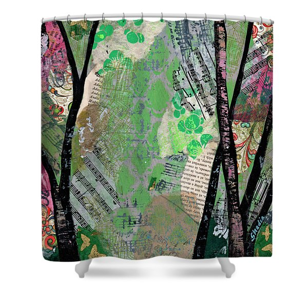 Song Of The Trees II Shower Curtain