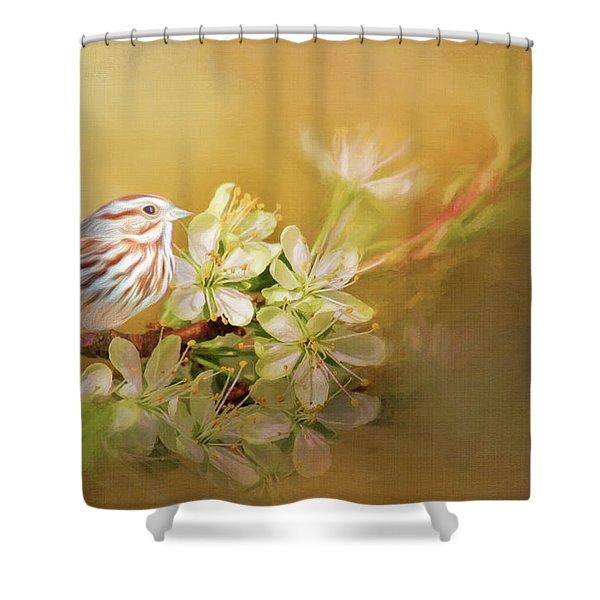 Song Sparrow Shower Curtain