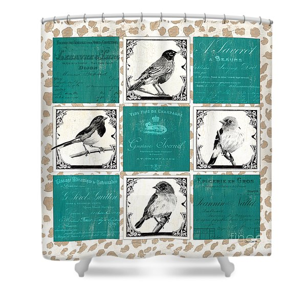 Songbird Cheetah Patch Shower Curtain