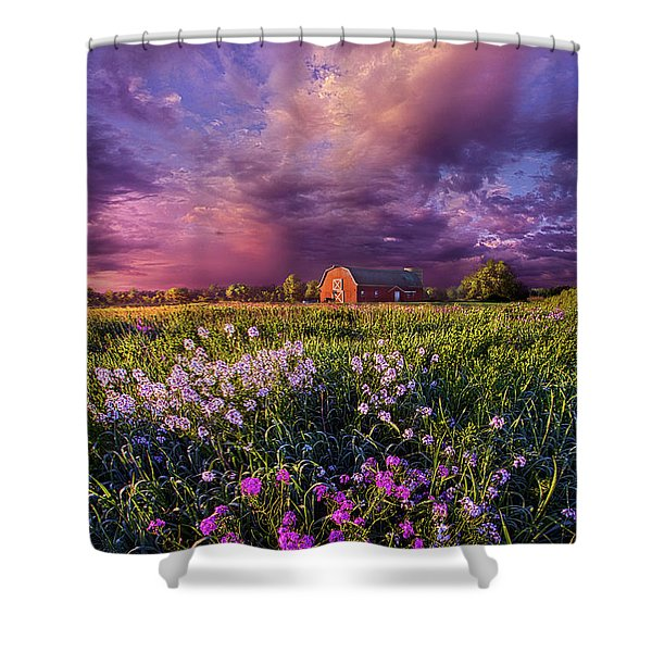 Songs Of Days Gone By Shower Curtain