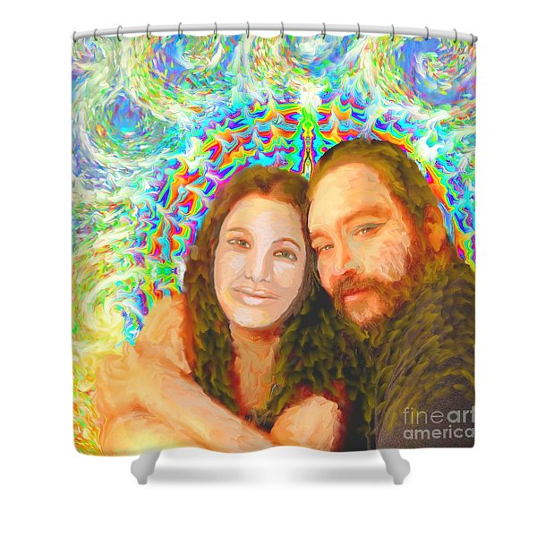 Sonia Marie And Her Sweetheart Shower Curtain