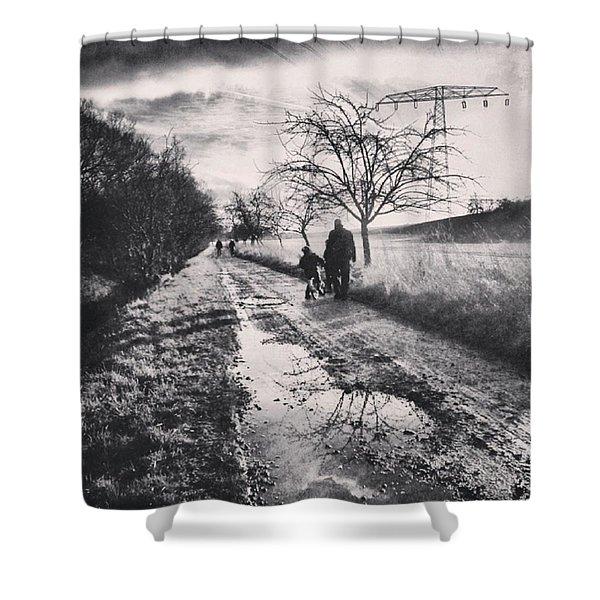 *sonntagsspaziergang  #landscape Shower Curtain