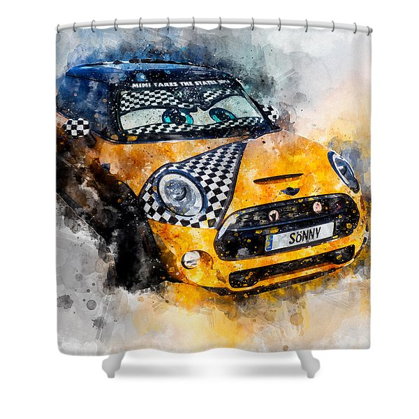 Sonny Watercolor Shower Curtain