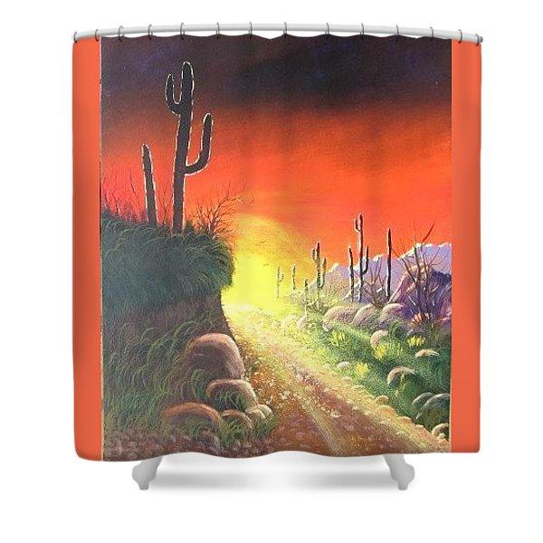 Sonora Sunrise Shower Curtain
