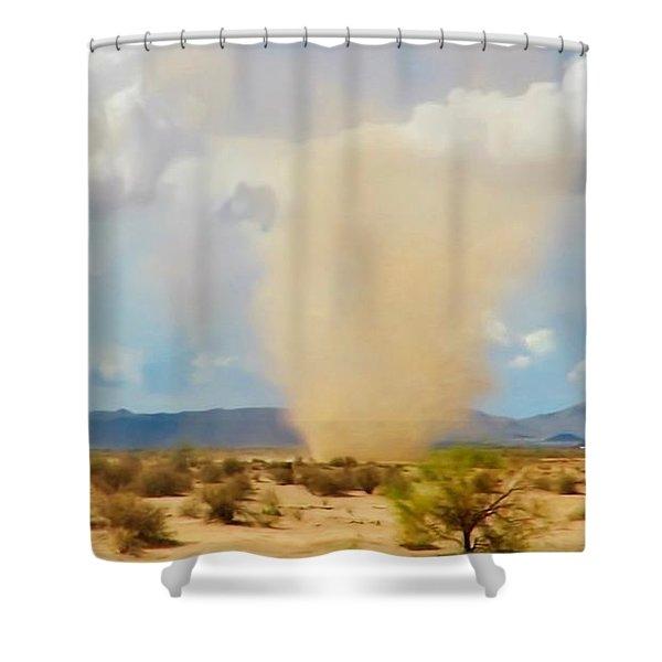 Sonoran Desert Dust Devil Shower Curtain