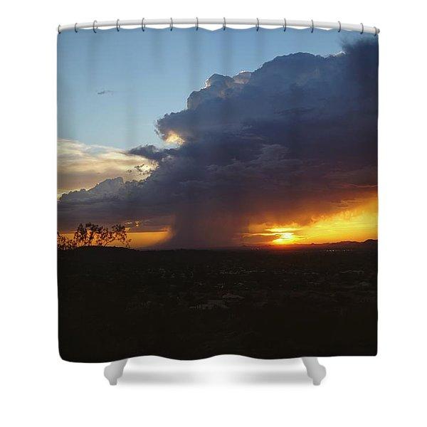 Sonoran Desert Thunderstorm Shower Curtain