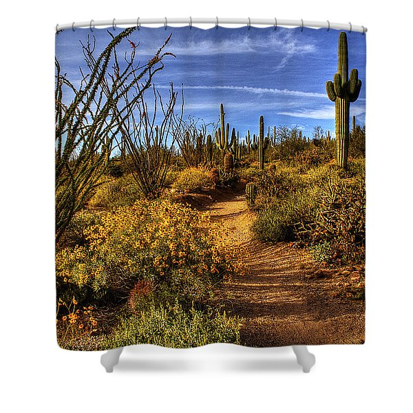 Sonoran Spring 01 Shower Curtain