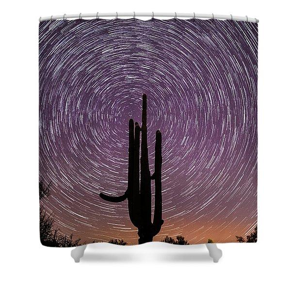 Sonoran Star Trails Shower Curtain