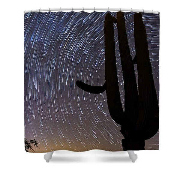 Sonoran Startrails - Reaching For The Stars Shower Curtain