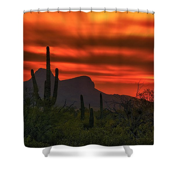 Sonoran Sunset H38 Shower Curtain