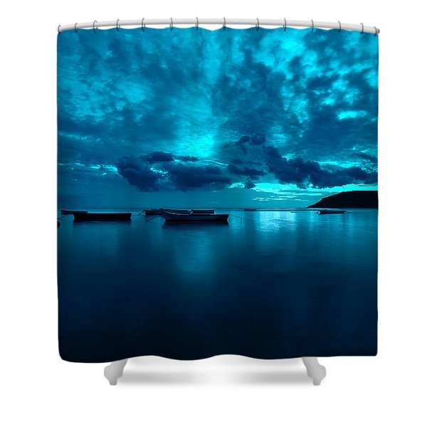 Soon The Night Shall Come Shower Curtain