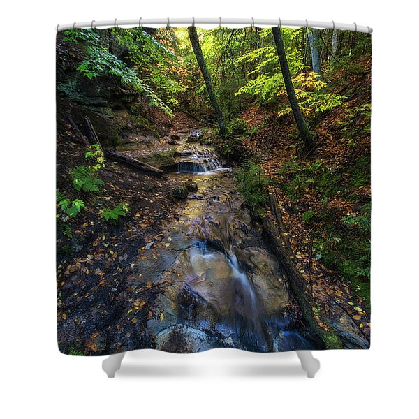 Shower Curtain featuring the photograph Soothing Cascade by Heather Kenward