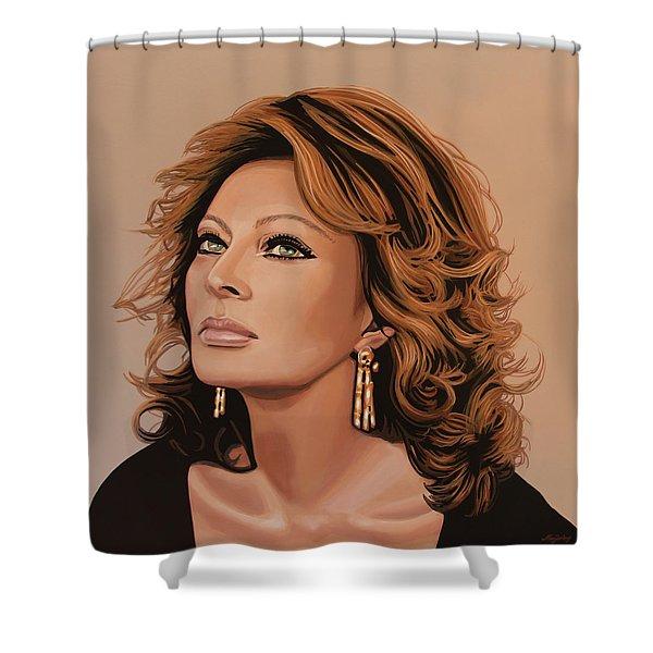 Sophia Loren 3 Shower Curtain