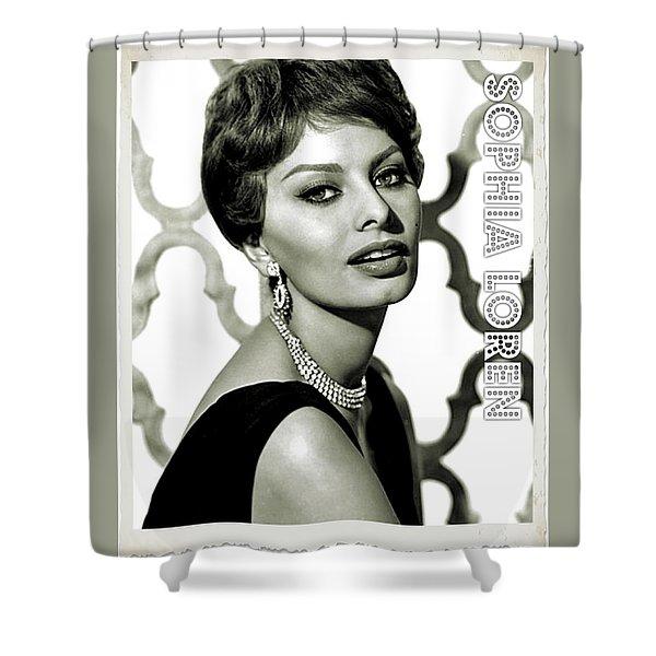 Sophia Loren Shower Curtain