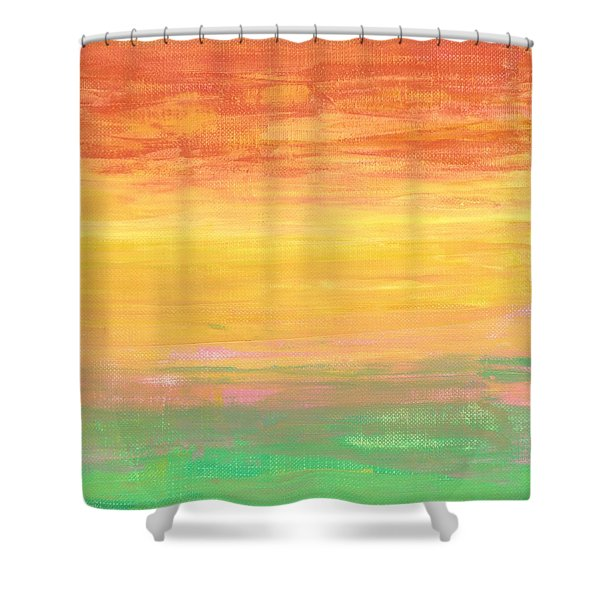 Sorbet Sunset Shower Curtain