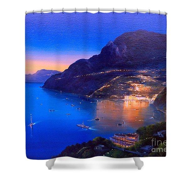 La Dolce Vita A Sorrento Shower Curtain