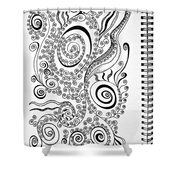 Sound Of The Lines Shower Curtain