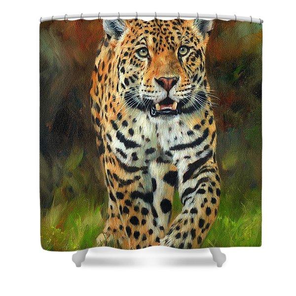 South American Jaguar Shower Curtain