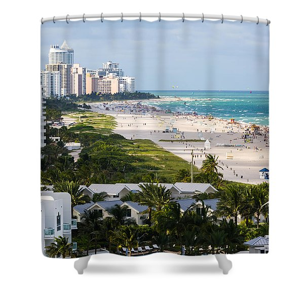 South Beach Late Afternoon Shower Curtain