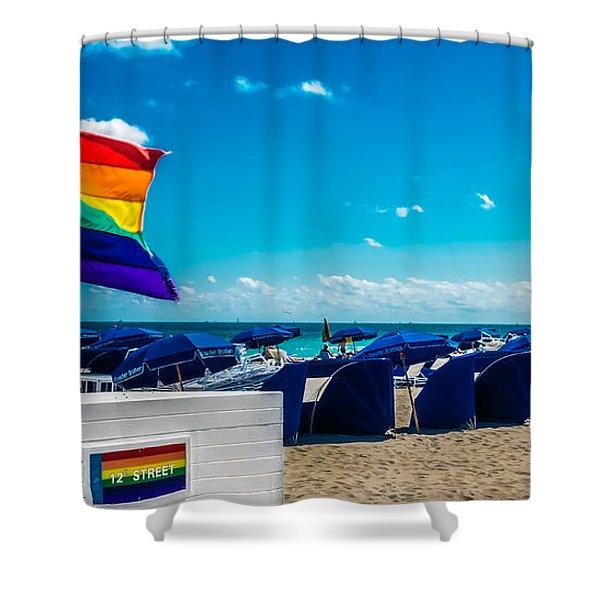 South Beach Pride Shower Curtain