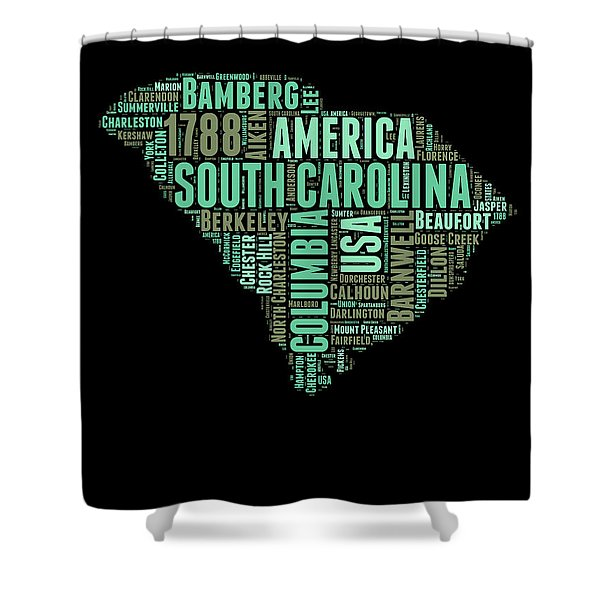 South Carolina Word Cloud 2 Shower Curtain