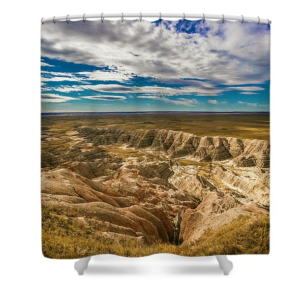 South Dakota Bad Lands.... Shower Curtain