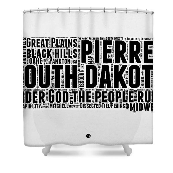 South Dakota Word Cloud 1 Shower Curtain